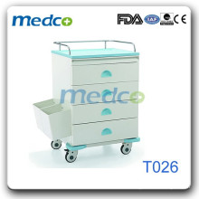 Steel change drug trolley T026