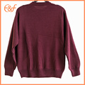 Chenille Tricot Pattern Men Pullover Sweater