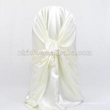 couverture de chaise de dos-attaché satin décoratifs/couverture chaise autonome liée satin fantaisie et bon marché pour hotel banquet mariage