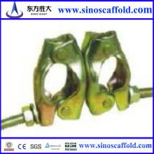 Fournisseur plus économique d'un coupleur pivotant à échafaudage 48,6 mm fabriqué en Chine utilisé dans la construction