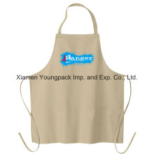 Promotional Custom Printed 100% Natural White Cotton Canvas Cloth Kitchen Cooking Apron