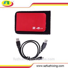2.5 SATA USB 2.0 tragbarer Festplattengehäuse