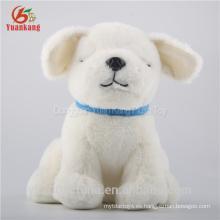 perro blanco de felpa al por mayor lindo perro con ojo negro