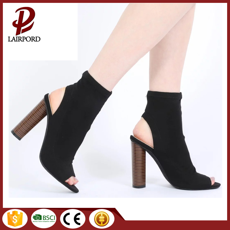 Faux suede summer women high heel shoes