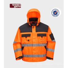 Excelente Qualityu seguridad eqipmen ropa de trabajo uniforme 300D oxford chaqueta reflexiva de seguridad