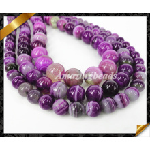 8mm Smooth Round Stripe Agate Loose Bead, Fashion Strand Bead for Making Jewelry, Stone Bead (AG020)