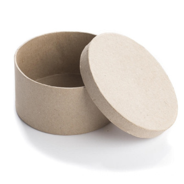 Brown Kraft Paper Round Sticker Dispenser Box Adhesive