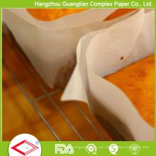 Papel de Glassine revestido del silicón 40GSM para cocinar de la hornada del alimento
