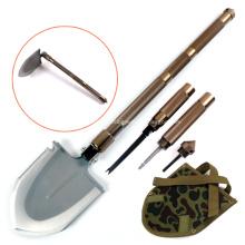Pelle militaire de survie de grande taille avec couteau de houe