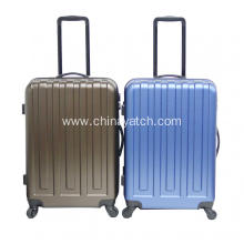 Cheap anti scratch ABS+PC alloy luggage set