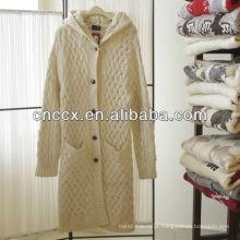 12STC0653 vintage mulheres longo casaco de camisola