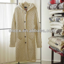 12STC0653 женская старинные длинный свитер пальто