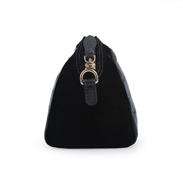 Spring women Crocodile pattern bag black leather