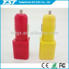 Würfel und Zylinder Form Mini Dual USB 2-Port Auto Ladegerät Adapter