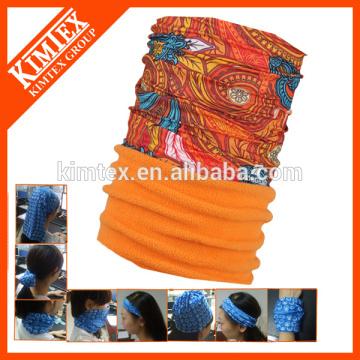 Magic polyester tube scarf fleece