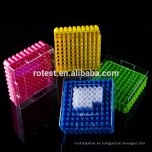 Cajas de congelación de plástico para muestras de almacenamiento.