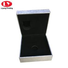 Cajas de regalo de joyería con bisagras hechas a mano de caja rígida personalizada