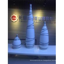 Nuevo florero de cerámica de encargo de la etiqueta para la decoración casera