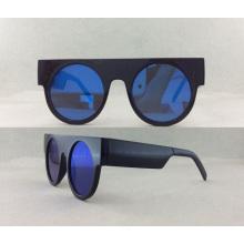 Óculos de sol polarizados de acetato e metal de moda P02003