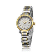 Acero inoxidable automático hombres de negocios reloj de pulsera