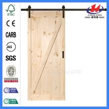 JHK-SK07 - Puerta de granero de madera maciza, estilo coctelera, 18 pulgadas