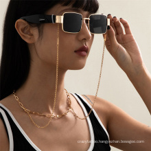 European and American Gold Silver Hip Hop Cuban Ins Chain Fashion Hanging Neck Rope Mask Chain Reading Glasses Sunglasses Chain Glasses Chain for Women2021