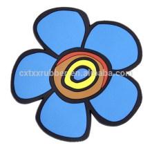 Coaster elegante da forma da flor, coaster pvc atacado personalizado