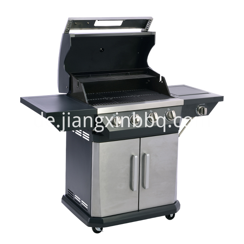 4 1 Burners Gas Grill Opening View