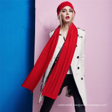 wholesale winter cashmere knitted scarf, ladies knitted scarf patterns