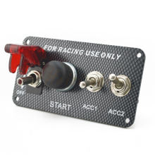 12V Racing Car Ignition Switch Panel Engine Start Push Button LED Toggle Auto