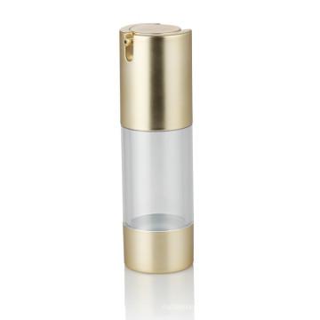 30 ml or transparent en plastique pompe bouteille soins de la peau pompe bouteille avec golden pump airless bouteille en plastique vente chaude