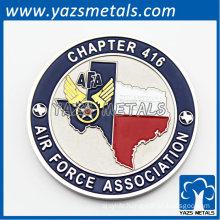baked finish custom logo map badge