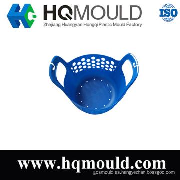 Molde de plástico para inyección de canasta blanda