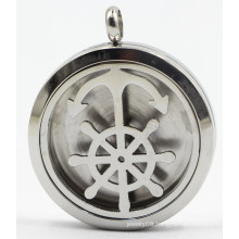 Boat Anchor 30mm Rd Silver Stainless Steel Perfume Diffuser Locket