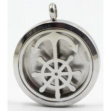 Barco âncora 30 milímetros Rd prata perfume de aço inoxidável Diffuser Locket