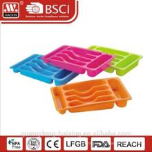 Bandeja de cubiertos de plástico de cocina