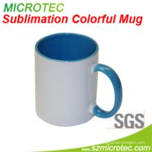 11oz Sublimation Coated Ceramic Two-Tone Colorful Mug
