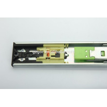 Hardware de móveis empurrar para abrir o trilho deslizante da gaveta de extensão completa