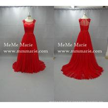 Vestido de noite com vestido de vestido clássico com fita