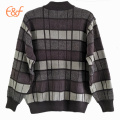 Latest style black and white stripe pullover knitted sweaters for kids