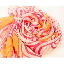 Модный полиэфир с принтом весенне-летнего длинного шарфа