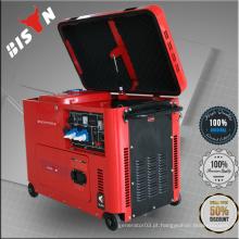 BISON China Taizhou BS7500DSE 60hz silencioso 6.0kva a 7.5kva conjunto de gerador diesel