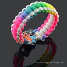 rainbow paracord bracelets