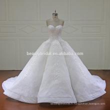 XF16147 nouveau design de robe de mariée robe de mariée 2017 mode sweetheart décolleté robe de mariée avec long train