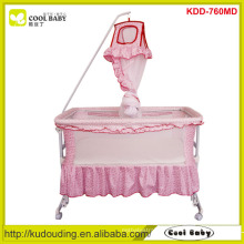2015 Manufacturer Children Prodcuts Swing Baby Bed with Mosquito Net 4pcs wheels can be turned up Swing Crib