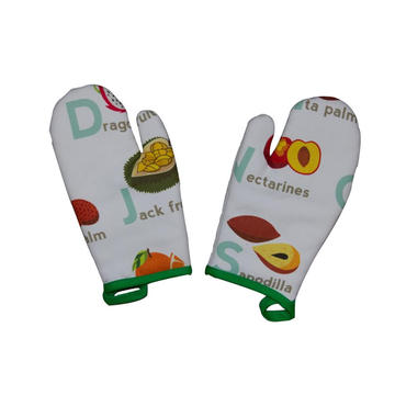 2018 KEFEI Wholesale Kitchen Printed Oven Mitt Gloves