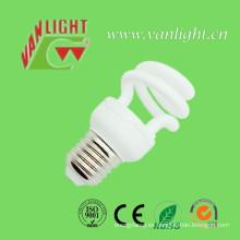 Media espiral T2 9W energía ahorro lámpara CFL