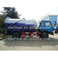 Dongfeng 145 camión de succión de vacío, 4x2 camión cisterna de aguas residuales de vacío