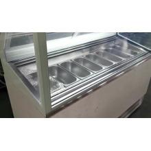 Vitrine à glace glacée 6 pans