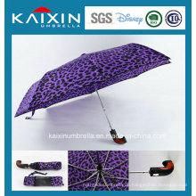 Kundenspezifische Farbe Werbeartikel Auto öffnen und schließen Falten Regenschirm